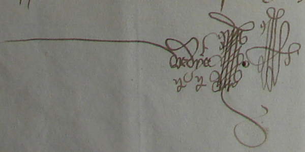 Signature de Cancien Vedie