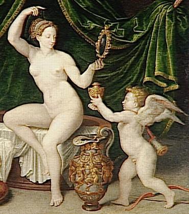 Toilette de Vénus (XVIe siècle, Musée du Louvre, détail)