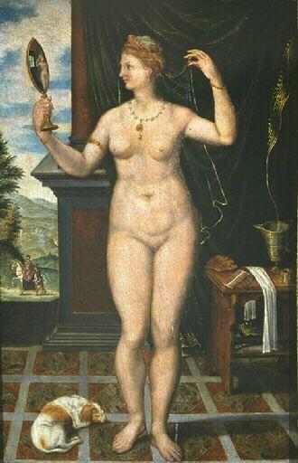 Vénus au miroir (16e siècle, Musée de Mâcon)