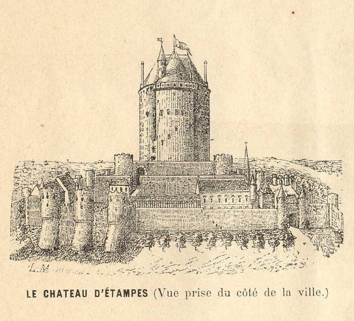 L on marquis le ch teau d 39 etampes du c t de la ville for Chateau etampes