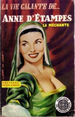 René Brantonne: Anne d'Etampes (illustration de couverture, vers 1955)