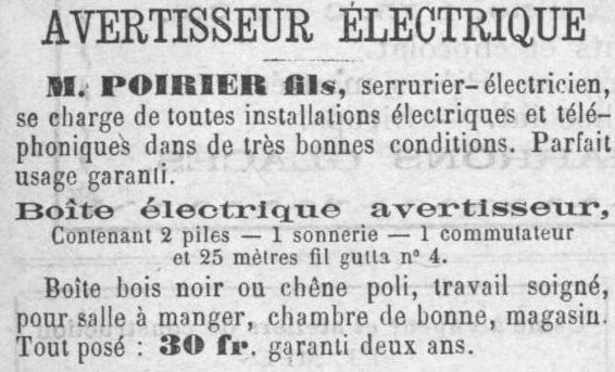 r clames et annonces d 39 entreprises tampoises en 1888. Black Bedroom Furniture Sets. Home Design Ideas