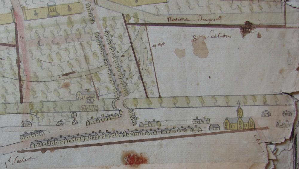 ville d 39 etampes fragment d 39 un plan de la ville registre des mutations de 1791. Black Bedroom Furniture Sets. Home Design Ideas