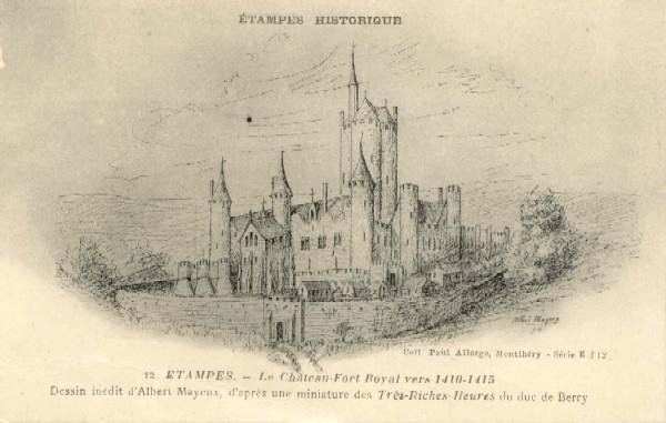 L on guibourg le ch teau prison 1957 for Chateau etampes