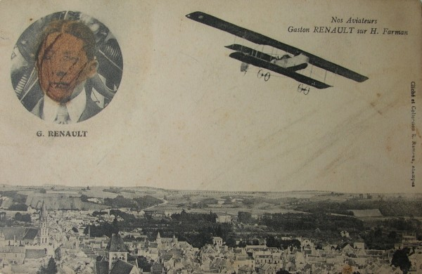 Gaston Renault sur H. Farman